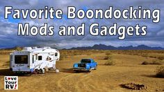 If you have followed the blog for a while you've come to know we love to boondock during our winter snowbird travels in the southwest. Over the last few years, I've been slowly outfitting the RV for off grid camping. We absolutely lovethe freedom. The core of our boondocking system is power generation in the form of solar panels, extra large battery bank, and a portable generator. But beyond those essential items, there are many other mods and gadgets that have made our self-contained RV