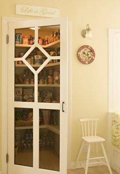 Hub of the House Kitchens and Interiors, Decorative Detail: Kitchen Pantry Kitchen Redo, Kitchen Pantry, Kitchen Remodel, Kitchen Design, Green Kitchen, Repurposed Furniture, Home Decor Furniture, Screen Door Pantry, Painted Screen Doors