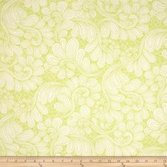"""Robert Kaufman 108"""" Wide Quilt Back Drawn Wide Petal Swirl Chartreuse from @fabricdotcom  Designed by Angela Waters for Robert Kaufman Fabrics, this extra wide cotton print fabric is perfect for quilt backing, bedding, window treatments, apparel and more. Colors include green and ivory."""