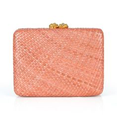#alewalsh #clutch  Ale Walsh - Hand woven water Lily clutch bag with flower closure plated in 24ct gold and a drop-in gold chain. Buy online at www.alewalsh.com Clutch Bag, Tote Bag, Red Coral, Luxury Handbags, Summer Collection, Gold Chains, Philippines, Ale, Hand Weaving