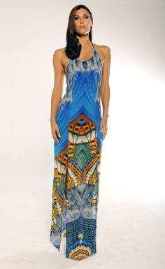 Parides Metamorphosis Collection S/S 2014 Fashion Week Style MB123 Blue Elegant Dress www.shahidaparides.com