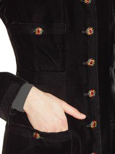 Black Velvet Coat from The Cool Girl's Guide to Vintage Chanel on Gilt