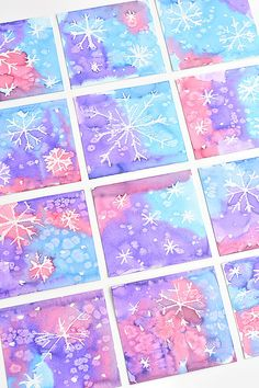 Magisches Salz und Aquarell-Schneeflocke-Kunstprojekt für Kinder – Dieses magi… Magic Salt and Watercolor Snowflake Art Project for Children – This magic salt and watercolor snowflake art project for children is so much fun! The Schn – Project Winter Art Projects, Winter Crafts For Kids, Crafts For Kids To Make, Projects For Kids, Easy Crafts, Art Project For Kids, Painting Ideas For Kids, Kid Painting, Christmas Art For Kids