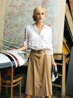 Blouse with Pleated Pockets burda Style Safari Chic, Mode Safari, Safari Outfits, Safari Outfit Women, Vintage Safari, Mode Costume, Vintage Mode, Africa Fashion, Mode Inspiration