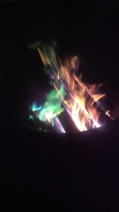 Rainbow campfire. Super cool in person