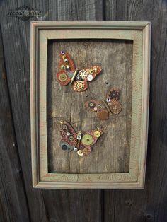 Бабочки. Панно стимпанк/ steampunk