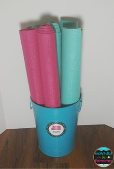 Cut yoga mats in half for some easy flexible seating options for the classroom. From Enchanted in Elementary