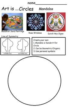 Art is...Circles. This packet has 14 printable, open-ended worksheets. Your students will learn about artists who painted circles in their art, different cultures who use circles and the nature of circles in art and math. INSIDE: Artists 1. Robert Delauney - Orphism 2.