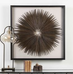 Feather Burst Shadow Boxs Combine Premium Quality Materials With Unique High-style Design. Revelation by Uttermost offers wholesale accent furniture, mirrors, lamps, lighting fixtures and Shadow Box Kunst, Shadow Box Art, Shadow Box Frames, Diy Wall Decor, Boho Decor, Phesant Feathers, Feather Wall Art, Feather Crafts, Crafts With Feathers