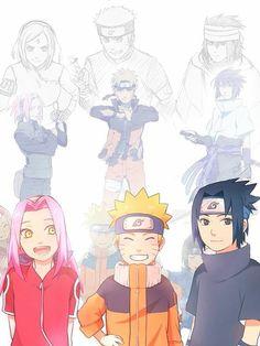 Team 7 in Naruto Shippuden The Last Naruto Team 7, Naruto Vs Sasuke, Naruto Uzumaki Shippuden, Anime Naruto, Naruto Shippuden Characters, Naruto Comic, Naruto Cute, Naruto Girls, Sakura And Sasuke