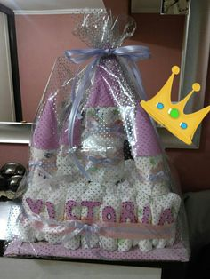Tarta de pañales que nos ha hecho nuestra amiga Sintia, babyshower Victoria 😍😍
