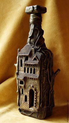 Подарки для мужчин, ручной работы. Ярмарка Мастеров - ручная работа Бутылка-замок. Handmade.