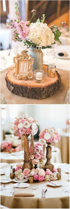 vintage baroque wedding centerpieces #weddings #vintageweddings #weddingideas #weddingdecorations