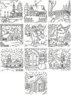 Advanced Embroidery Designs - Redwork Winter Scene Set
