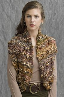 Autumn Leaves vest from Tahki Stacy Charles. Rows of seed stitch in PRESTO are broken up with single rows of RINGO, which pop from the vest in complementary colors. The smallest size requires 4 skeins of PRESTO and 2 skeins of RINGO. Knitting Designs, Knitting Patterns, Knitting Projects, Knit Fashion, Runway Fashion, Knit Vest Pattern, Knitted Blankets, Knit Crochet, Crochet Stitch