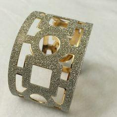 Glittery cuff bracelet. Glittery cuff bracelet. Gold toned inside. Jewelry Bracelets