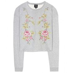 McQ Alexander McQueen Embroidered Cotton Sweatshirt