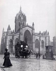 St Giles Cathedral - Edinburgh High Street - Photograph probably by JCH Balmain