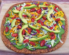 Raw Vegan Recipes by Rocki: Raw Vegan Pizza with Spinach Basil Pesto