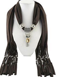 Jemis 6 Colors Cute Fox Pendant Scarf Women Retro Fashion Scarfs Fringed Necklace Scarves Jewelry (Brown) Jemis http://www.amazon.com/dp/B00XAB7V2G/ref=cm_sw_r_pi_dp_9TdWvb0BFAM0Y