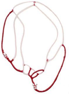 ELA BAUER-NL-  Necklace: Untitled 2007 Silicone, bone china porcelane