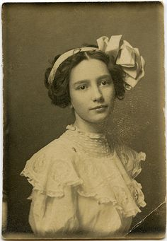 Postcard of a young woman, early 20th C.