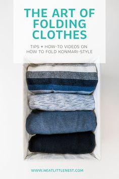 How to Fold Clothes KonMari-Style