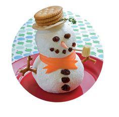 Este muñeco de nieve no se derretirá en vuestras casas. Antes que tenga una posibilidad de hacerlo se lo comerán tanto los niños como invitados. La forma de ves