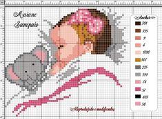 Baby Cross Stitch Patterns, Cross Stitch Pillow, Cross Stitch For Kids, Cute Cross Stitch, Cross Stitch Charts, Cross Stitch Designs, Cross Stitching, Cross Stitch Embroidery, Cross Stitch Silhouette