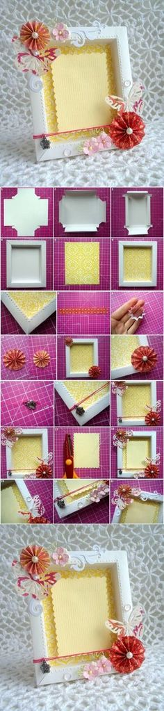 Moldura de Cartolina + tampinhas de refri etc + fundo de tecido e papel paraná?                                                                                                                                                                                 Mais