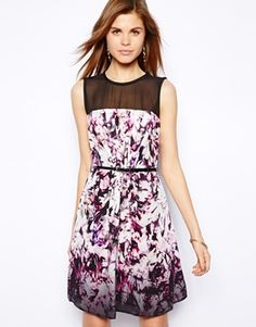 Image 1 ofCoast Sonya Dress with Floral Graphic Print
