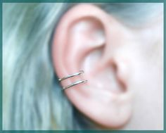 silver EAR CUFF perfect for gift silver wire by CharmingWondersCW