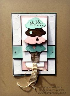 stampin up sprinkles of life waterfall card