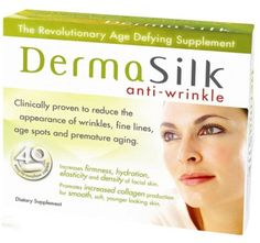 DermaSilk Anti-wrinkle Treatment Supplements, Clinically Proven to Reduce the Appearance of Wrinkles, Fine Lines, Age Spots and Premature Aging. Contains Astaxanthin, Anti-aging, Promotes Increased Collagen Production, for Smooth, Soft, Younger, Looking Skin. A Beauty Enhancing Supplement, Containing Natural Extracts, with Powerful - Antioxidants - And Dermall Restorative Properties. Dietary Supplement - 40 Capsules * See this awesome image  : Sunscreens Tanning Products
