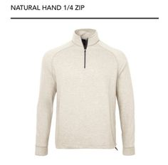 Shirts Tops and Sweaters 181138: New Dunning Golf Natural Hand 1 4 Zip Pullover Mens Size Large ~ Oatmeal -> BUY IT NOW ONLY: $39.99 on eBay!