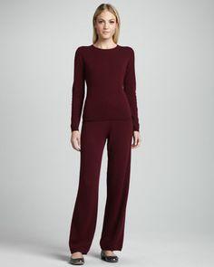 Neiman Marcus Cashmere Sweater & Yoga Pants - Neiman Marcus