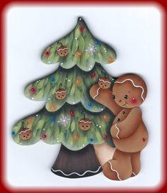 Gingerbread Decorating the Tree Painting por GingerbreadCuties