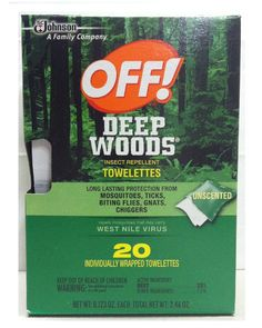 Off! Deep Woods Insect Repellent Wipes >>> Details can be found by clicking on the image.