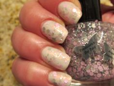 Treasures By Tan Argyle over Lacquerhead Polish Fairy Frosting