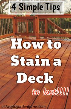 4 Simple Tips on How To Stain a Deck to last! Cedar Deck Stain, Best Deck Stain, Cedar Fence, Deck Stain Colors, Deck Colors, Cool Deck, Diy Deck, Deck Staining, Colombia
