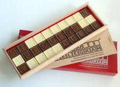 ¡Hacer sus propias creaciones en chocolate! ¡Conoce a nuestro Chocotelegram!