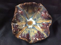 Bowl by Susan Garrett PC Blue Rutile with PC Ancient Jasper on rim Cone 6