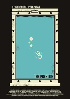 The Prestige inspired poster, really clever use of vector and simple colours