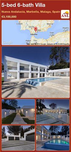 Villa in Nueva Andalucía, Marbella, Malaga, Spain Marbella Malaga, Electric Blinds, Puerto Banus, Malaga Spain, Underfloor Heating, Home Cinemas, Murcia, Andalucia, Tropical Garden