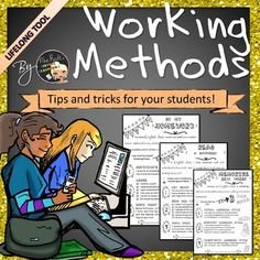 """Implement """"Personalized Support"""" with ease and efficiency! Here is a HUGE (and GROWING) bundle consisting of 12 essential methods to help your students be better at studying:You will find: A binder cover A ready to print binder in B&W Some teacher's notes Some students follow up taskcards 9 different methods (download the preview)--> homework and copybook organization--> memorizing and describing--> presenting (2 different levels) and writing--> listening and reading--> di..."""