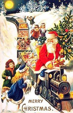 santa on train with toys. http://www.sfbayhomes.com  #sfbayhomes.com