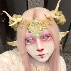 Make Up - [psyche masquerade] - Wallpaper Pinme Sfx Makeup, Cosplay Makeup, Costume Makeup, Makeup Art, Punk Makeup, Gothic Makeup, Fairy Makeup, Mermaid Makeup, Crazy Makeup