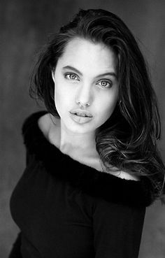 young Angelina jolie photographed by Michel Clement in 1991.  Other photoshoots: Philip Wong 91 | Victoria Brynner 90 | Harry Hangdon 89 | Troy Jensen