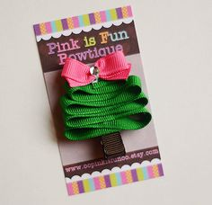Christmas+Hair+Clip+Christmas+Tree+Clip+Holiday+by+oopinkisfunoo,+$4.00