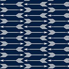 arrows // navy - Rustic Woods fabric by littlearrowdesign on Spoonflower - custom fabric